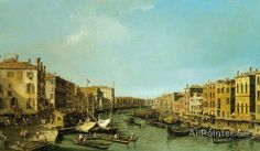 Giovanni Antonio Canal (called Canaletto),Venice:  The Grand Canal From The Rialto To The Palazzo Foscari oil painting reproductions for sale