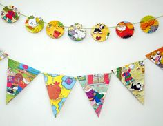 Old MacDonald Bunting Children's bunting Party by PeonyandThistle