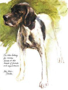 Pointer - Poortvliet Dog Print