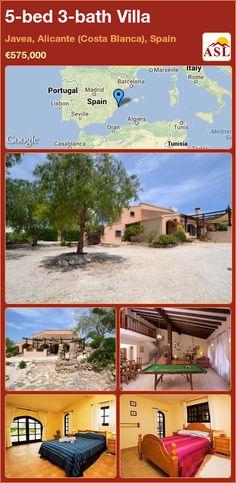 5-bed 3-bath Villa in Javea, Alicante (Costa Blanca), Spain ►€575,000 #PropertyForSaleInSpain