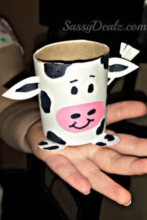 Cow Toilet Paper Roll Craft For Kids (Farm Activity!)