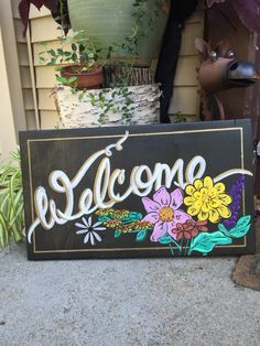 Welcome sign for Liz's wedding!