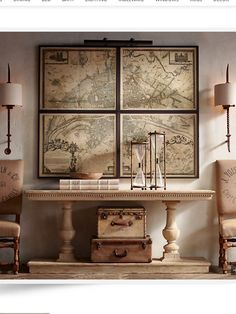 Restoration hardware, Paris map, old world feel. Love everything about this