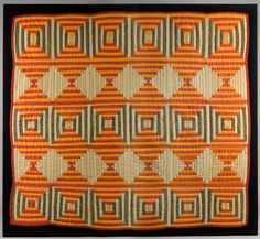 Quilt, Crib Quilt, Mennonite, Circa 1860 Love all the simple motion and patterns. How awesome. Old Quilts, Amish Quilts, Antique Quilts, Small Quilts, Vintage Quilts, Baby Quilts, Crib Quilts, Antique Crib, Log Cabin Quilts