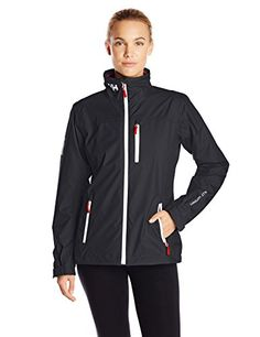 Helly Hansen Women's Crew Midlayer Jacket, Navy, Large -- Learn more by visiting the image link.