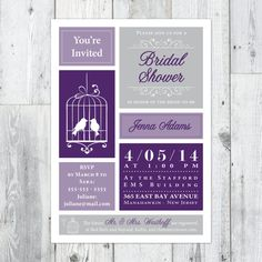 Love Birds Bridal Shower Invitation by PerpetualDaydreaming, Feather their nest shower