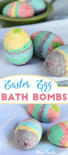 Easter Egg Bath Bombs - easy Easter craft, both kids & adults will love these bath bombs