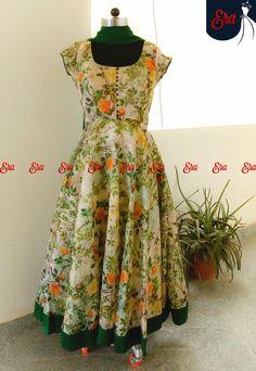 Designer Salwar Kameez, Designer Anarkali Dresses, Designer Dresses, Long Gown Dress, Frock Dress, Saree Dress, Salwar Designs, Half Saree Designs, Kalamkari Dresses