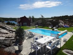 Pool at the summerhouse near Kristiansand, Norway