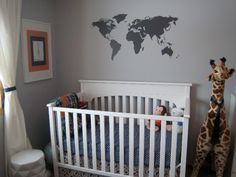 I sorta like the map    Mad for Midcentury: A Modern Travel-Themed Nursery