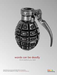 This poster is a very simple picture of a grenade but with texting icons added it becomes a strong message. It contrasts well with the light background.