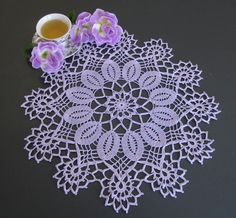 Purple passion crocheted doily