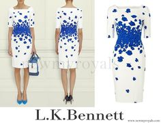 L.K. Bennett Lasa Poppy Print Dress