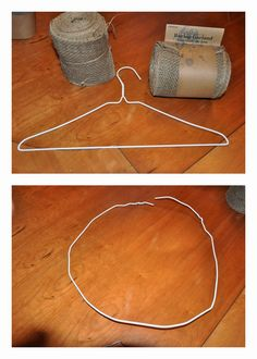 So much cheaper and way easy to make that burlap wreath! Saves you quite a bit of money on your wreath.The wire wreath forms cost. Burlap Projects, Burlap Crafts, Wreath Crafts, Diy Wreath, Craft Projects, Burlap Wreath Tutorial, Tulle Wreath, Wreath Ideas, Wreath Making