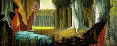 Visual Development from Sleeping Beauty by Eyvind Earle