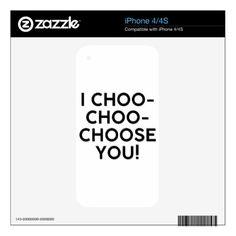 Choose Decals For iPhone 4S - Saint Valentine's Day gift idea couple love girlfriend boyfriend design
