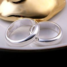 Sterling Silver Plain Band Ring - Jewelry1000.com
