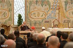 Pape François - Pope Francis - Papa Francesco - Papa Francisco - Prédication de l'Avent 2013 au Vatican par le Père Raniero Cantalamessa
