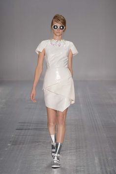Shine on in white! This Shakuhachi dress was modelled during Mercedes Benz Fashion Week.