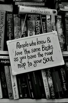 It's true.  If you love the same books you have a kindred spirit....
