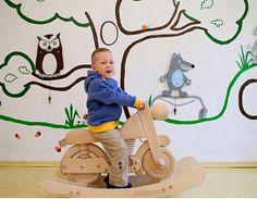 Balancines de madera para niños