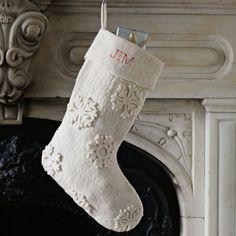 Felt Snowflake Stocking | west elm   http://www.westelm.com/products/felt-snowflake-stocking-c421/?pkey=cchristmas-stockings-decor&