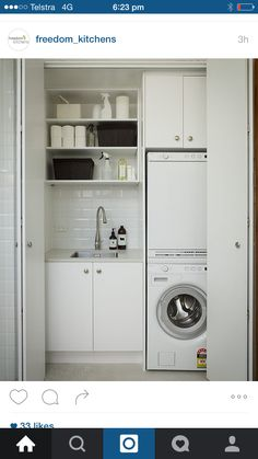 Stacked Washer Dryer, Washer And Dryer, Laundry, Home Appliances, Ideas, House Appliances, Laundry Service, Washing Machine And Dryer, Appliances