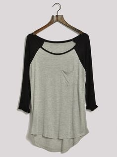 Modal T mulheres O pescoço meia manga 3/4 contraste cinza de algodão T ocasional em Camisetas de Roupas e Acessórios no AliExpress.com   Alibaba Group