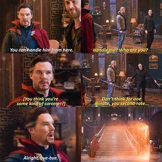 Doctor Strange, Thor, and Loki Marvel Avengers Marvel Jokes, Avengers Memes, Loki Thor, Marvel Funny, Marvel Dc Comics, Marvel Heroes, Marvel Avengers, Avengers Cast, Fandoms