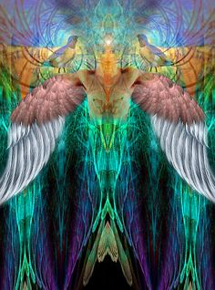 ✨This is the Energy of Metatron✨ he brings in so much color, light, and universal sound frequency.. just amp up the light about 100x ❤ whoa (art;bill.brouard)