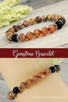 Plum Bead Bracelet High Quality Glass Czech Beads Purple Pave Focal Bead Boho Style for Women
