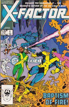 Comic X-Factor 1 Marvel Comics Vintage by FeedYourGeekShop