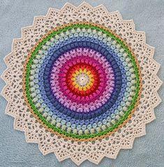 s crochet chronicles mandala pattern Motif Mandala Crochet, Crochet Circles, Crochet Doilies, Crochet Stitches, Crochet Patterns, Doily Rug, Crochet Decoration, Crochet Home Decor, Crochet Crafts
