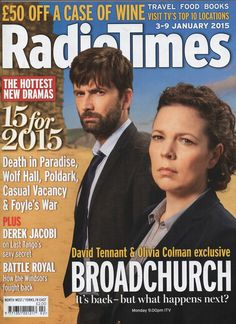 David Tennant and Olivia Colman On The Cover Of The New Radio Times