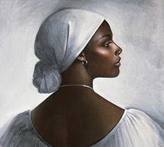 Lady In White Print by Samere Tansley