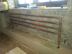 Made to measure with 22mm copper pipes More