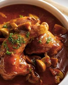 Italiaanse kipstoofschotel - Powered by Healthy Slow Cooker, Healthy Crockpot Recipes, Healthy Food, I Love Food, Good Food, Tapas, Frango Chicken, Happy Foods, International Recipes