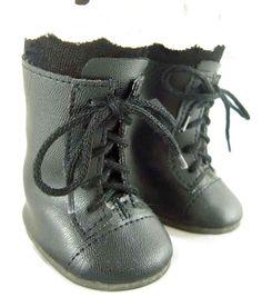 "Black 1800 Boots fits 18"" American Girl Victorian Era Rebecca Doll Clothes #DollClothesSewBeautiful"