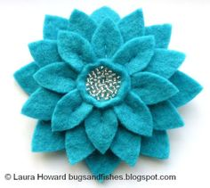 How To: Large Felt Flower Brooches