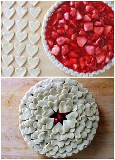#heart #pie #strawberry #cute #sweets