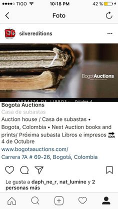 Subasta de libros antiguos en Bogotá. Octubre 4 de 2017. Bogotá Auctions