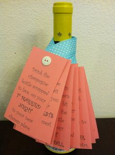 Personalized Wine Poem Tags: Bridal Shower/Wedding