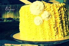 Ruffle Cake  www.sugarandsprinklesco.com
