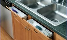 How to make sink tip-out storage trays