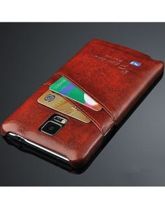 Samsung Galaxy Note 4 Case is a Genuine Leather Case. It's design is very awesome and looking  gorgeous. I am very like this case. You have keep your MasterCard in this case.  It is a amazing case to me. I am using this case. Now I am happy to buy this case.