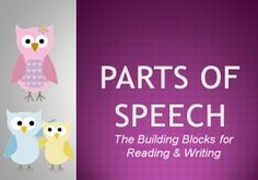"""This PowerPoint presentation covers the eight parts of speech and allows students to see example sentences that use each part of speech.   The PowerPoint shows students special ways to memorize certain parts of speech such as using """"FANBOYS"""" to learn conjunctions."""