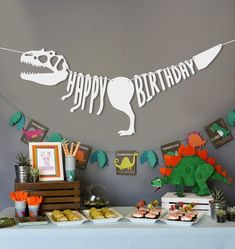 Items similar to Dinosaur banner with garland Jurassic Park birthday banner, Dinosaur birthday, Dinosaur party, Jurassic world party, Jurassic world birthday on Etsy Dinosaur Party Decorations, Dinosaur Party Supplies, Birthday Party Decorations, Birthday Ideas, Children Birthday Party Ideas, Dinosaur Party Games, Jurassic Park Party, Birthday Party At Park, Dinosaur Birthday Party