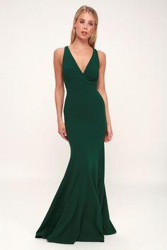 99abb403e4e Always Be in Love Forest Green Twist-Back Maxi Dress
