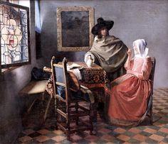 un-monde-de-papier:  Le verre de vin, Johannes Vermeer, vers 1660.  Photo: cc https://www.flickr.com/photos/mazanto/ https://creativecommons.org/licenses/by-nc-sa/2.0/