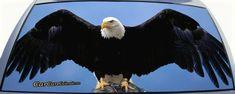 Eagle Spread Wings Rear Window Graphic